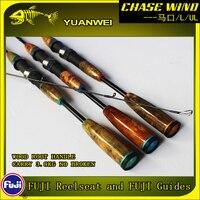 Yuanwei 1.98m 2.1m haste de fiação ul/l 2 seção haste de carbono vara vara de pescar carpe peixe pólo canne um peche suporte isca haste a057