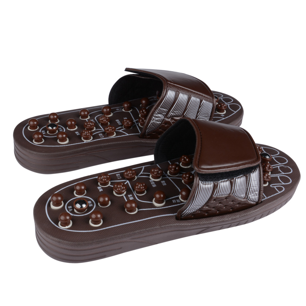 Foot Massage Slippers Health Shoe Sandal Massages Reflexology Feet Elderly Healthy Care Product Massager Shoes hthl chinese health care colored plastic walk stone square healthy foot massage mat pad cushion