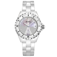 Буреи 18002 Швейцария часы женщины люксовый бренд J12 серии Paris La Tour Eiffel diamond pearl Керамика белый relogio feminino