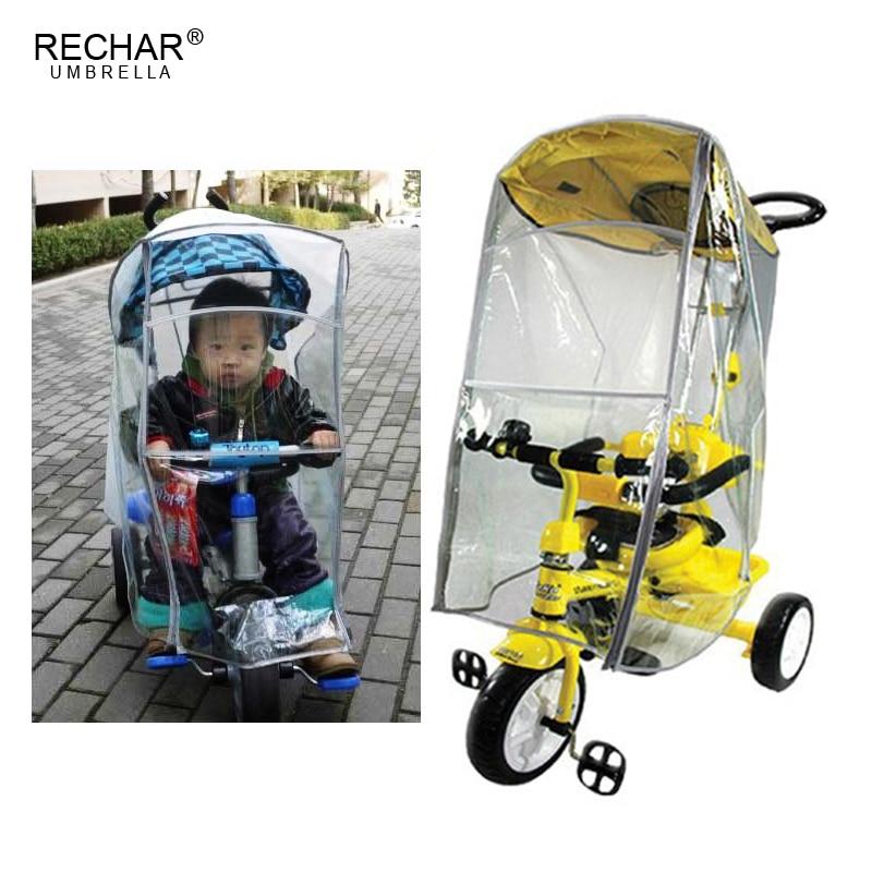 Baby Stroller Rain Cover Kids Three Wheels Cart Rain Cover Children Tricycle Rain shade Trike Rain Protection Cover | Happy Baby Mama