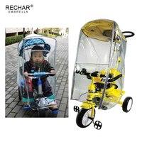 Baby Stroller Rain Cover Kids Three Wheels Cart Rain Cover Children Tricycle Rain shade Trike Rain Protection Cover|Rain Covers| |  -