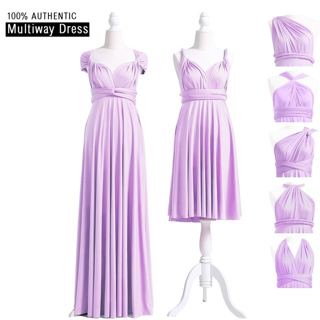 a72bed2e0aa4 Lilac Bridesmaid Dress Multiway Long Dress Bridesmaid Infinity Dress Wrap  Dress