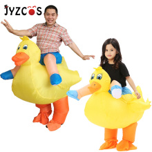 JYZCOS Inflatable Yellow Duck Halloween Costumes for Women Men Kids Animal Cosplay