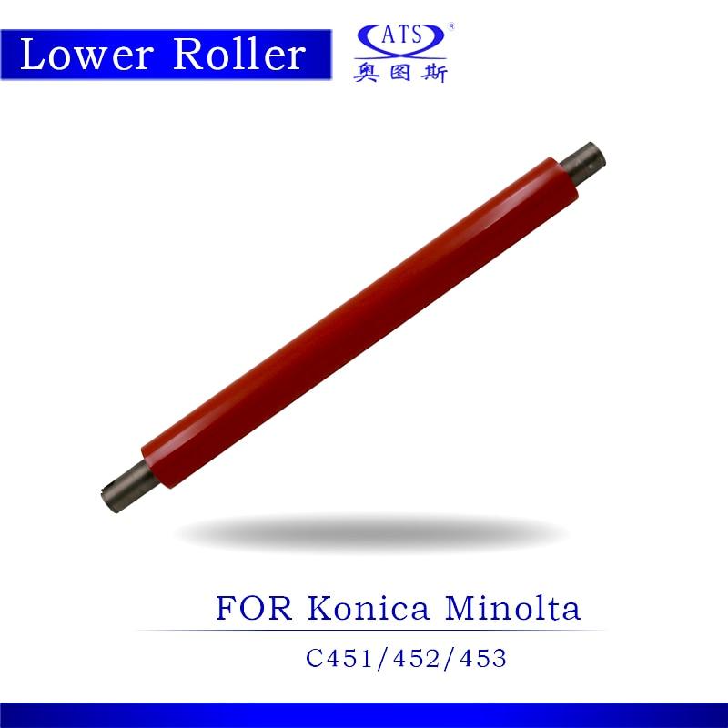 BHC451 BHC452 BHC453 Pressure Roller Photocopy Machine Lower Fuser Roller For Konica Minolta BH C451 C452 C453 Copier Parts 1pcs photocopy machine lower pressure fuser roller for konica minolta bh c 554 copier parts bhc554