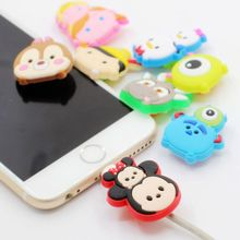 100pcs Cartoon USB Charger Cable Organizer Protector For iphone 5 6 6s 7 plus 8 iPad Headphone cable saver Protection