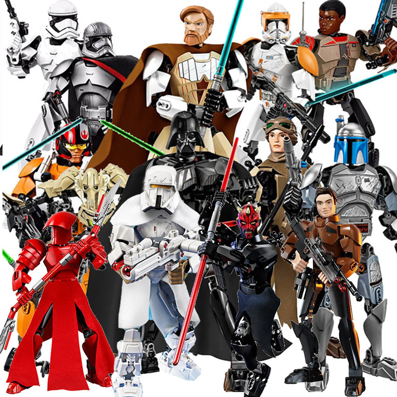 Star Wars Solo Han Maul Chewbacca Darth Weiß Storm Trooper Allgemeine Grievous Figur Spielzeug Bausteine Kompatibel Legoingly
