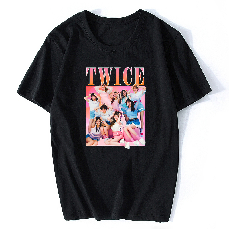 Twice Korean Style New Men/women T Shirt  Harajuku Streetwear Men Cotton Hip Hop T Shirt Vintage Aesthetic Clothes