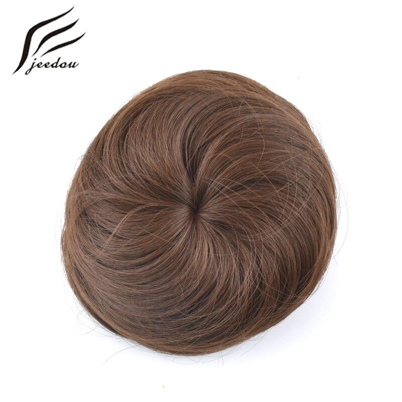 jeedou pelo sintético pelo rubio rubio color de la mezcla 30g bollo - Cabello sintético - foto 4