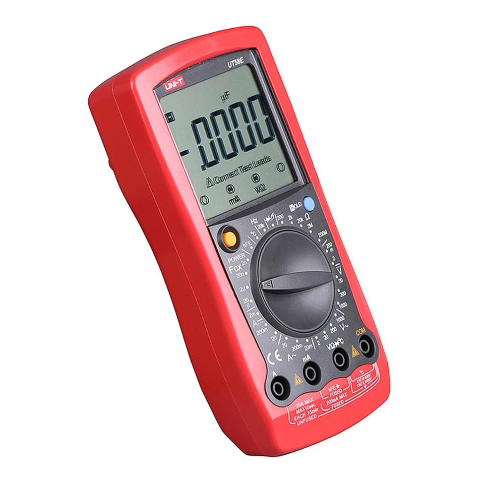 UNI-T UT58E Digital Multimeter Ammeter Ohm Volt Meter Capacitance Temperature Digital Universal Meter ICD Count 1999 AVO Meter