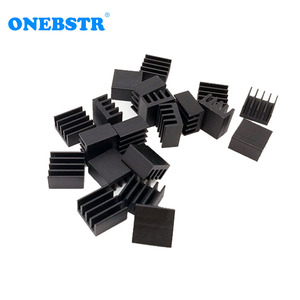 20Pcs/lot Aluminum Routing 8.8X8.8X5mm Heatsink Electronic Chip Cooling Radiator for A4988 Chip set Hot sale Free shipping(China)
