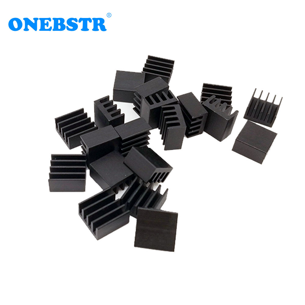 20Pcs/lot Aluminum Routing Heatsink Electronic Chip Cooling Radiator 8.8 X 8.8X 5mm for A4988 Chip 1 pcs electric guitar neck maple wood fretboard truss rod 22 fret tiger stripes maple neck xylophone
