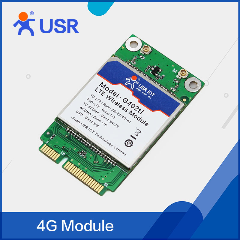 ФОТО Q098 USR-G402tf-mPCIe 4G Wireless LTE Modules mPCIe Hardware Interface Support USB Communication TD-LTE and FDD-LTE Network
