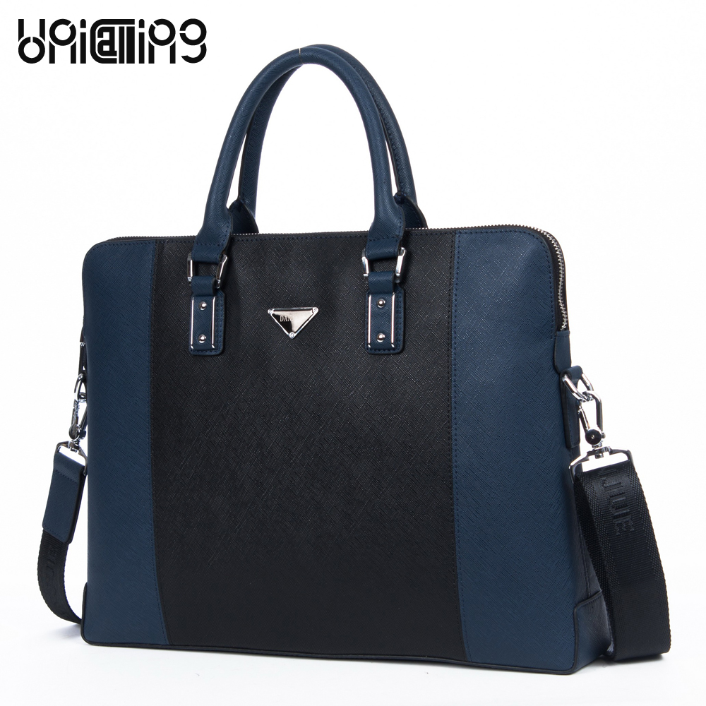 New fashion men genuine leather business briefcase bag men's noble luxury business handbag laptop bag leather computer bag