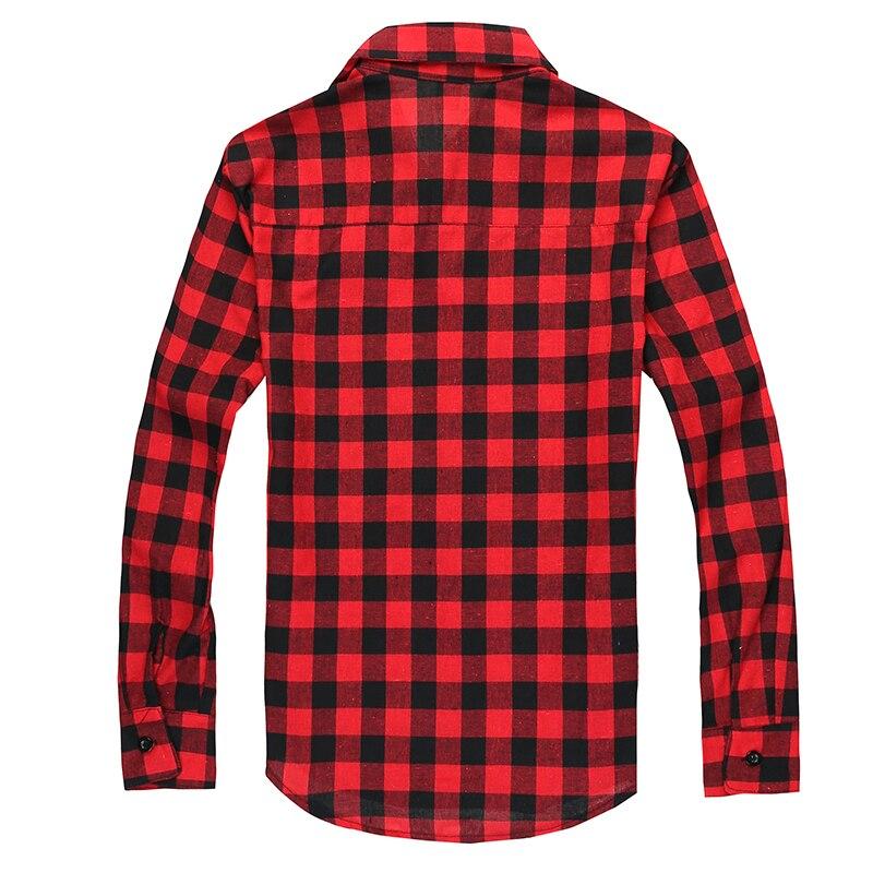 Men Plaid Shirt Camisas Social 2018 Autumn Men's Fashion Plaid Long-sleeved Shirt Male Button Down Casual Check Shirt 1