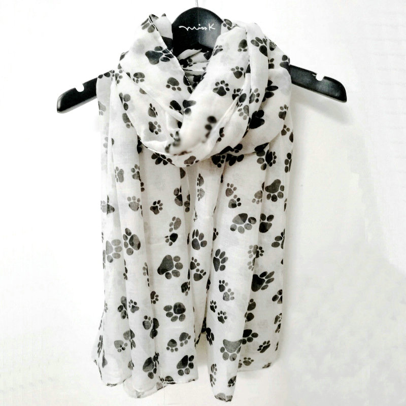 Apparel Accessories Foxmother New White Pink Dalmatian Dog Scarfs Foulard Femme Bufanda Mujer Dog Scarves Women Dog Lover Gifts Mom 100% Guarantee