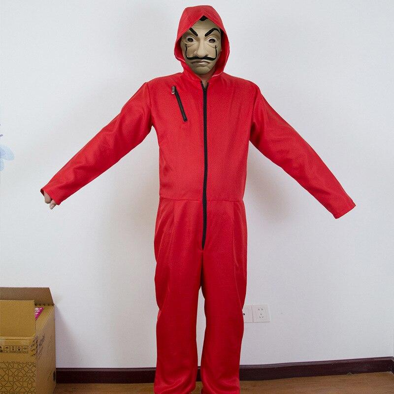 la casa de papel Salvador DaliSalvador Dali Red jumpsuit Uniform Cosplay Costume