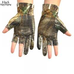 Skidproof перчатки 3 для верховой езды камуфляж сократить-палец Открытый удобные Камо Рыбалка перчатки эластичные перчатки охота против