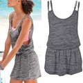 Summer Women Hollow Out Mini Dress Spaghetti Strap Beach Dresses Plus Size Vestidos
