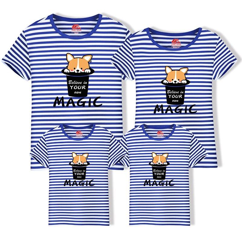 Diszipliniert T Hemd Große Größe Nette Rosa Cartoon Hund Passenden Familie Outfits 2019 Neue Baumwolle Mutter Vater Kid Passende Kleidung Mom Dad 6xl äRger LöSchen Und Durst LöSchen