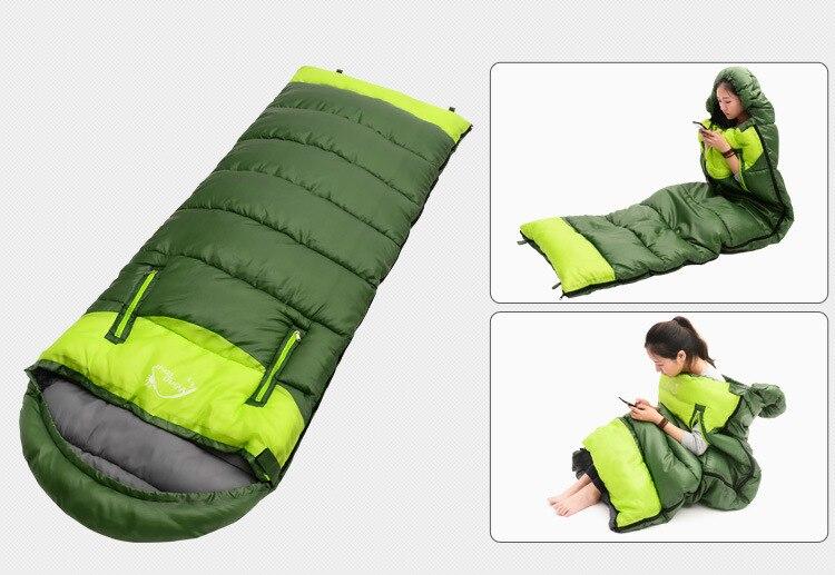 190x75cm acampamento ultraleve saco de dormir envelope