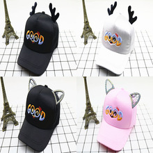 Fashion Horns Baseball Caps Cute Baby Hats With Ears Outdoor Comfortable Texture Healthy For Kids Boys Girls