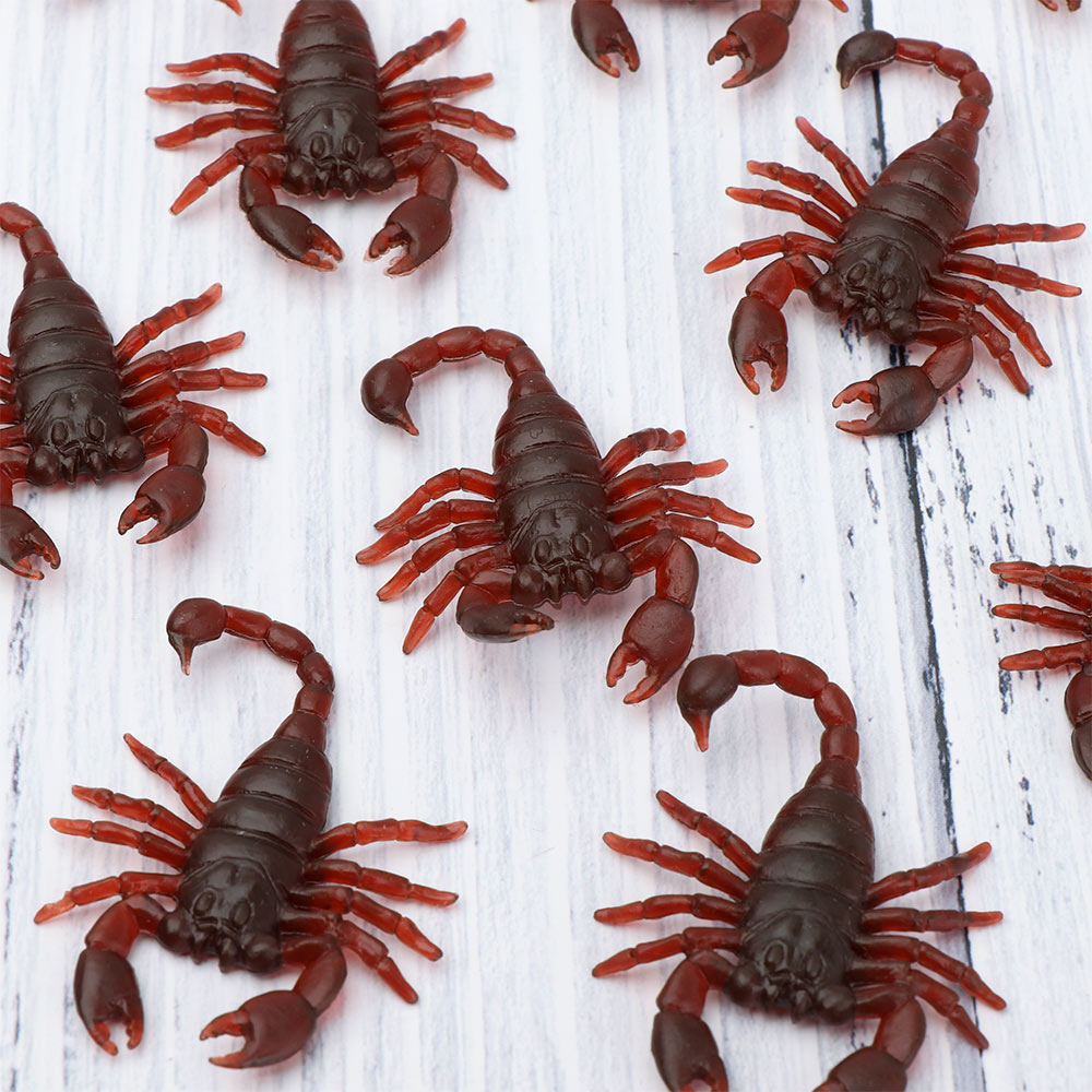 10Pcs Imitation Centipede Scorpion Flies Plastic Insects Fool's Day Toys Prank Funny Trick Joke Gadgets Age Range: Grownups