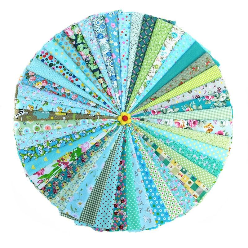 Tela hecha a mano DIY 46 Color verde Departamento impreso tela decoración del hogar artesanías ropa de artes creativas al por mayor tela de algodón - 3