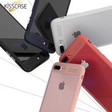 Kisscase крышка для iphone 6 6s 7 плюс телефон случаях crystal clear вернуться мягкие tpu рамка противоударный обложка для iphone 7 7 plus case