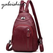 Travel backpack Female casual female student shoulder bag  Multi-function leather Backpack mochila Sac A Dos