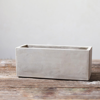 Silicone Mold Concrete Flower Pot Rectangular Parallelepiped Planter Cement Plate Mould DIY Handmade Tool