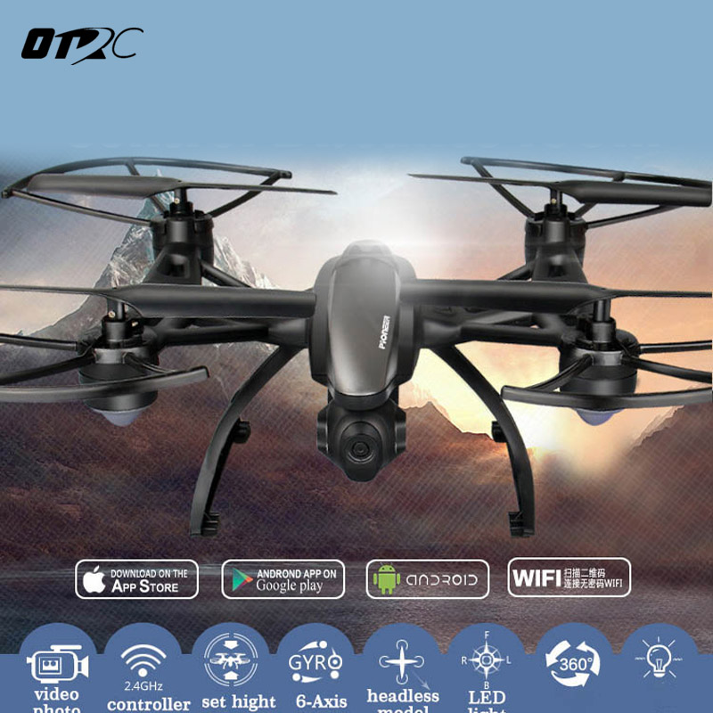 OTRC Drone 509G 509W With LCD Monitor 5.8G FPV 2MP HD Camera Altitude Hold Mode One key return RC Quadcopter Dron helicopters xs809hw fpv dron selfie drones with camera hd 2mp folding quadcopter one key return headless rc helicopter remote control toys