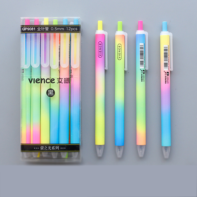 3pcs 12pcs Ballpoint Retractable Pens Black Ink 0.7mm Tip Quality Eco School