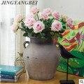 Rose Künstliche Blumen Silk Blumen Floral Bouquet Hochzeit dekoration Party decor