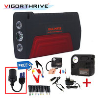 600A Multifunction Portable charger 12V Car Jump Starter Auto Power Bank For Car Battery Booster Petrol Diesel With Three Lights