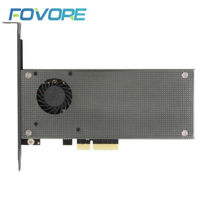 NGFF M.2 SSD NVMe PCIe adapter M2 NGFF SSD NVME M2 PCIe M.2 PCI e adapter m.2 (NVMe) + NGFF mit fan Aluminium gehäuse
