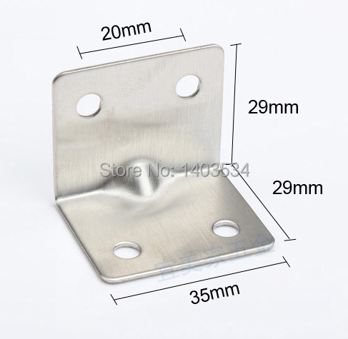 2pcs/lot 29*29*35mm Stainless steel angle bracket T shape satin finish frame board support