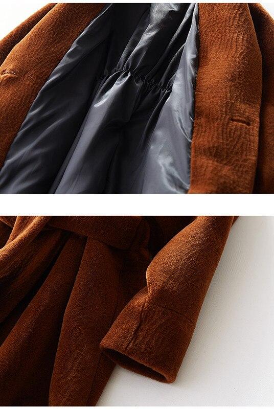Nouvelle Lrpllm As116 Mouton Manteau Femmes Chaud De Agneau D'hiver Fausse Color Fourrure Ceinture Photo Longue Mode 2019 En xYZYqprBw