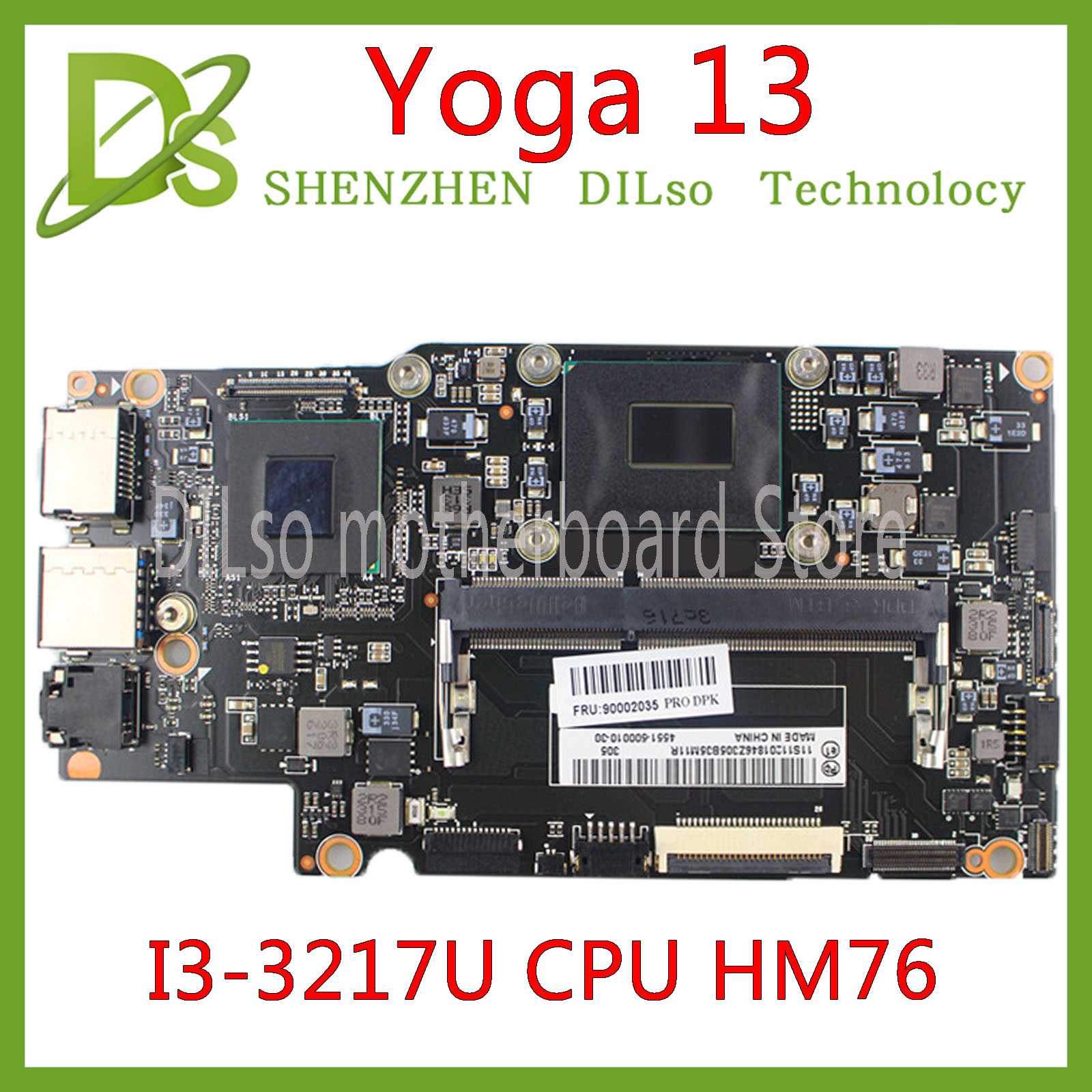 KEFU Yoga13 Mainboard For Lenovo Yoga 13 Yoga13 Laptop Motherboard FRU:90000652 With I3-3217U CPU HM76 Test 100% Original