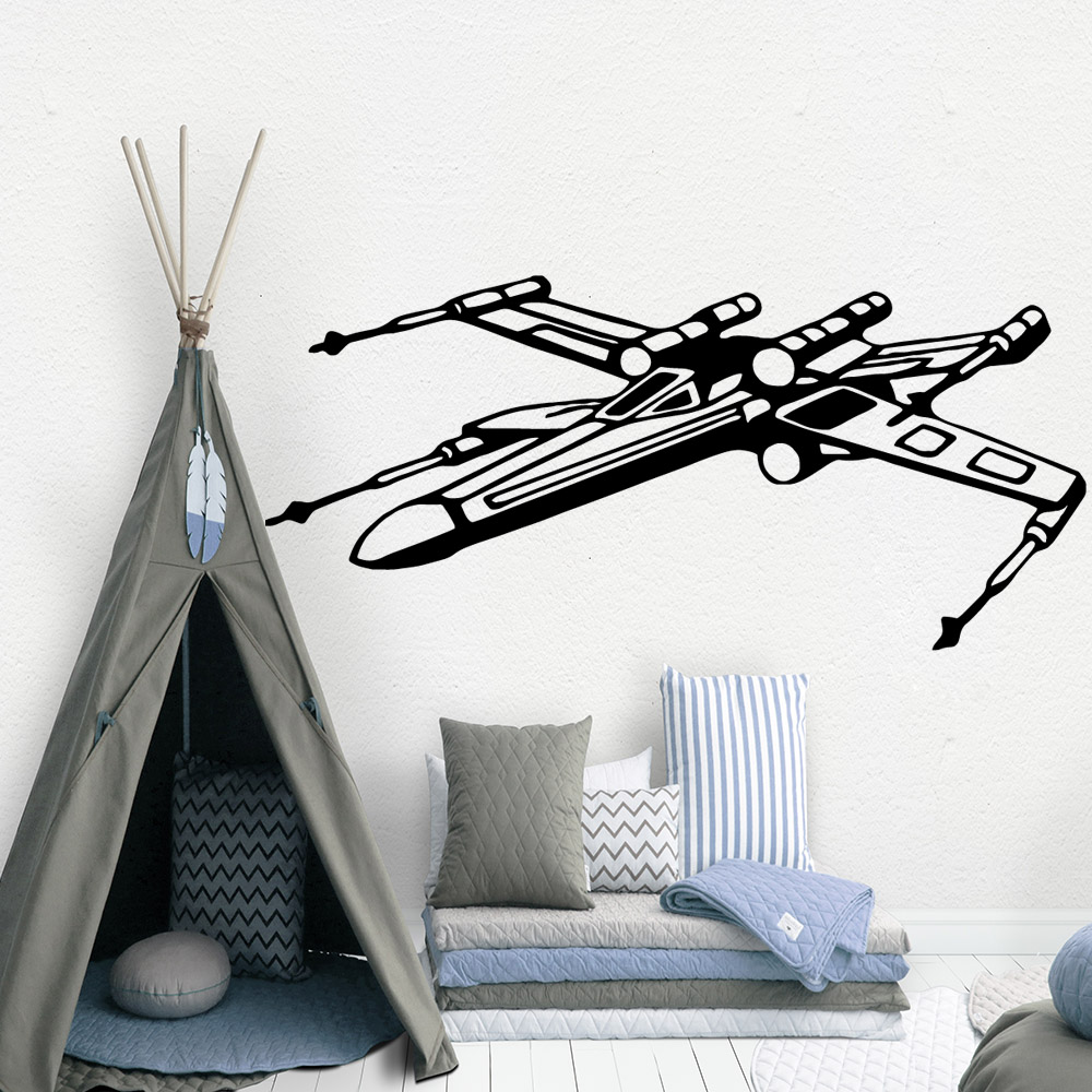 Cute star wars Decal Removable Vinyl Mural Poster For Kids Room Living Room Home Decor Diy Pvc Home Decoration Accessories in Wall Stickers from Home Garden