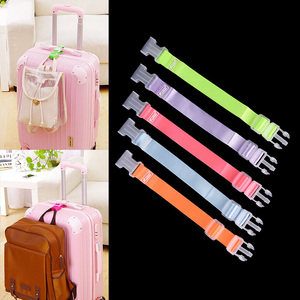 Portable Adjustable Travel Accessories Buckle Button Security Parts Suitcase Bag Straps Luggage Strap Baggage Buckle Lock