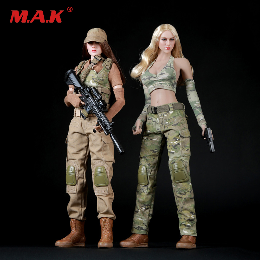 1/6 Scale Female Soldier Spnier Clothes Tactical Shooter Set FG003 For PH Jiaodol Action Figure 1 6 scale soldier enter the dragon bruce lee opponent mr han shi jian clothes set free head carving