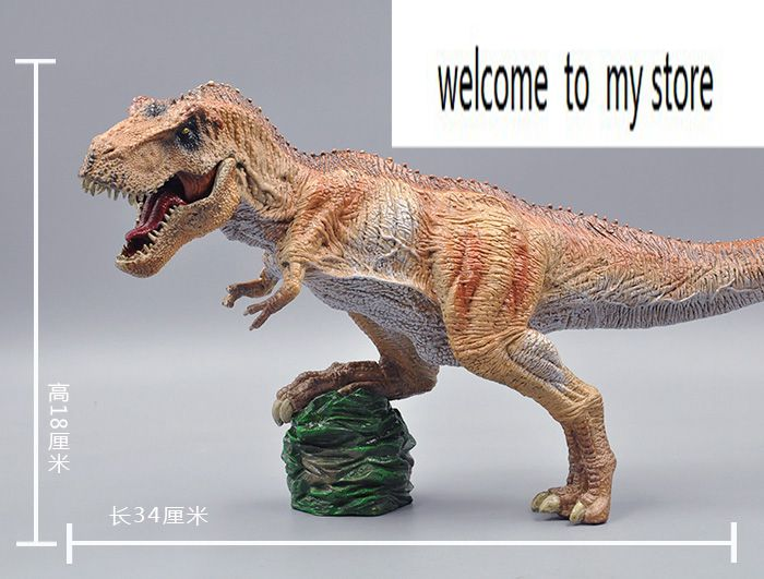 big  one Simulation animal toy model dinosaur Tyrannosaurus rex model scene the dinosaur island jurassic infrared remote control electric super large tyrannosaurus rex model children s toy