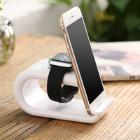 DOEES Docking Station Charging Desktop Stand Phone Holder Dock Station For Apple Watch Charger For IPhone