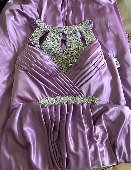 Вечернее платье,, длина до пола, сатиновые Сексуальные вечерние платья для выпускного вечера, элегантные длинные вечерние платья - Цвет: light purple