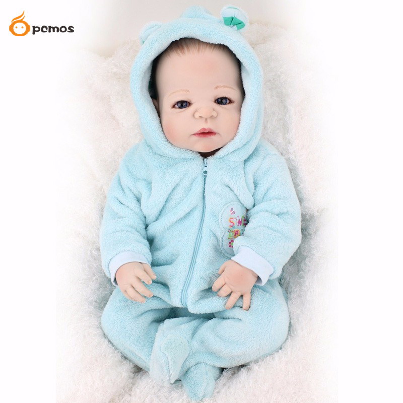[PCMOS] 2016 New 22 Lifelike Full Body Silicone Reborn Baby Boy Doll Blue Clothes + Bottle Toy Dolls Collection 16071406 miller titan by honeywell ac qc xsbl aircore full body harness x small blue