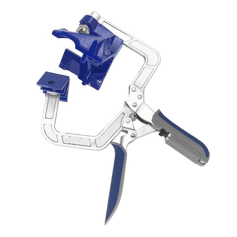 1pc 90 graus ângulo direito carpintaria braçadeira quadro de imagem canto clipe mão ferramenta braçadeiras para trabalhar madeira