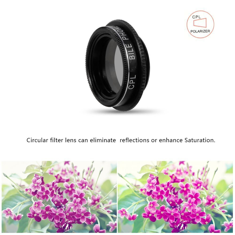 APEXEL Fish Eye+ Wide Angle+Macro+CPL filter camera Lens Kit for iPhone 7/7plus/6S Plus Samsung XiaomiRedMi HTC Phones 5in1 8