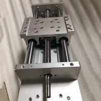 Ручной раздвижной стол XYZ оси DIY путешествия 400 мм Ballscrews SFU1605 C7 Высокая точность 18 мм линейный слайд стол чпу гравировка Запчасти