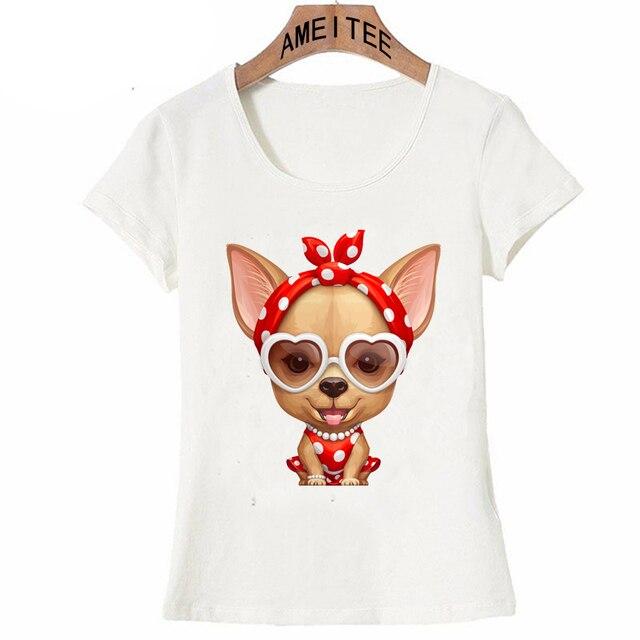 da772506 Chihuahua Retro Beauty print T-Shirt summer cute women T-Shirt funny dog  design Girl Tops fashion casual Tees ladies t shirt