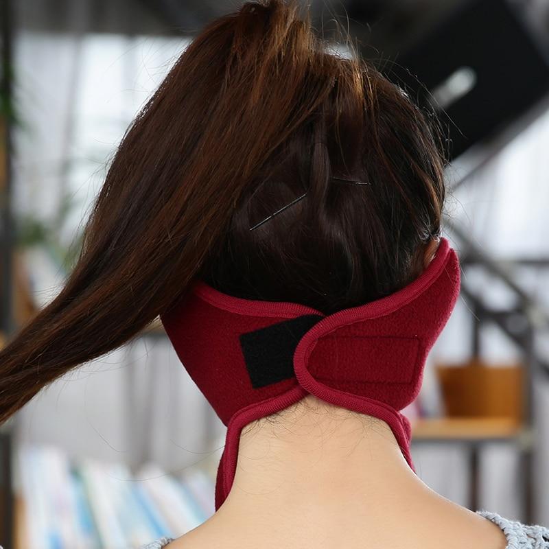 Womens Winter Warmers Velvet Cotton Masks Scarf Muffler Earmuffs Girls Ear Muffs